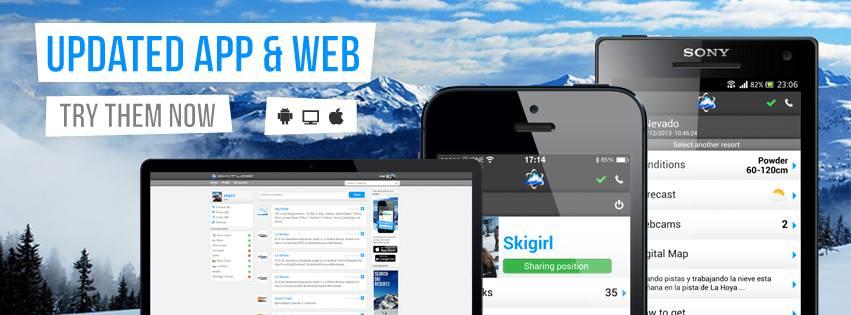 Un grupo de emprendedores catalanes crea una app móvil para los forofos del esquí