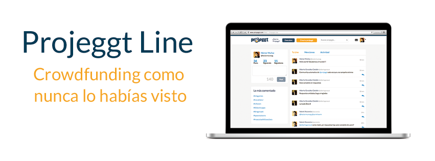 Projeggt Line, una revolucionaria plataforma para incubar ideas con crowdfunding