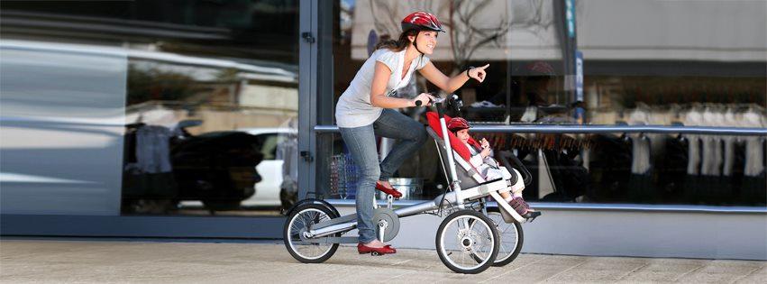 Taga, un carrito de bebé que se convierte en bici