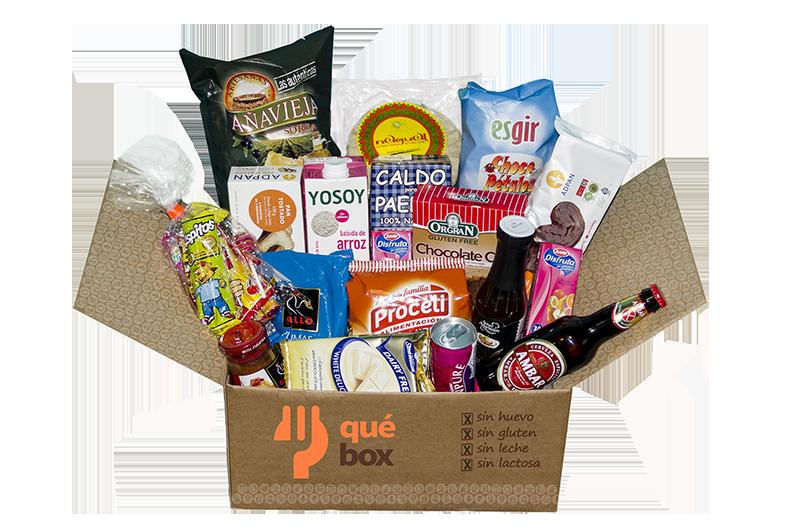 Emprendedores españoles crean QuéBox, una caja con productos para personas con alergias alimentarias