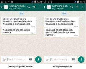 El ingeniero Javier Rubio demuestra que los mensajes de WhatsApp se pueden manipular sin dejar rastro