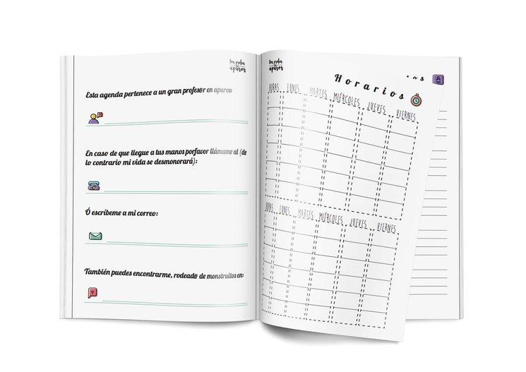 Dos profesoras recaudan más de 11.000 euros con una agenda escolar para docentes