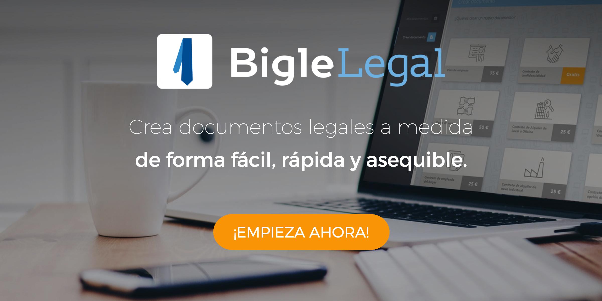 ¿Quieres crear tus propios documentos legales? Ahora es posible con Bigle Legal
