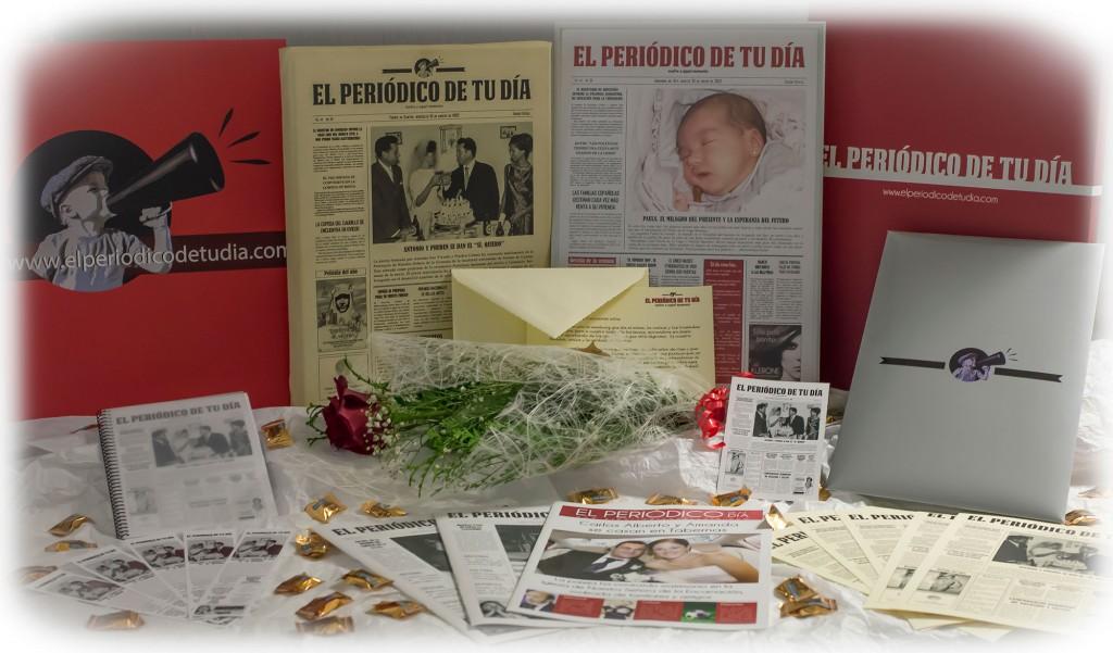 El Periódico de Tu Día, un regalo original que recoge las noticias ocurridas durante un día concreto