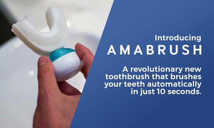 Amabrush, un cepillo de dientes automático que recauda más de un millón de euros