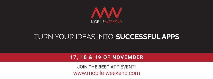 Mobile Weekend, el evento que te ayudará a encontrar financiación para desarrollar tu idea