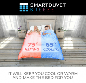 Smartduvet Breeze, un edredón inteligente que regula la temperatura de cada lado de la cama