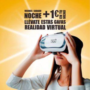 Muerde la Pasta ofrece unas gafas de realidad virtual los viernes y los sábados por la noche