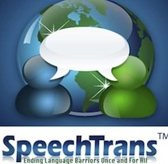 Hablar y aprender inglés con SpeechTrans a través de una app