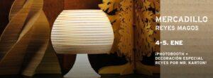 EL GARAJE DE MI CASA, un mercadillo decorado a base de cartón