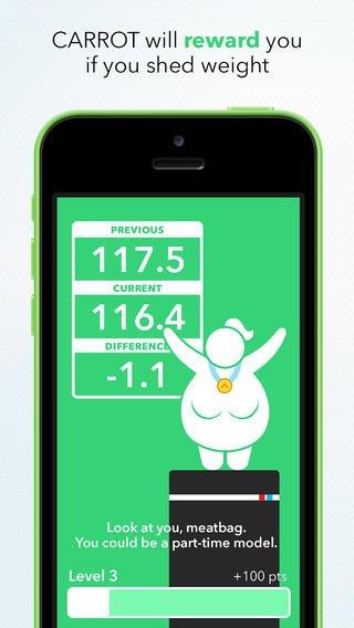 Inspírate con Carrot Fit, una app para perder peso de una forma divertida