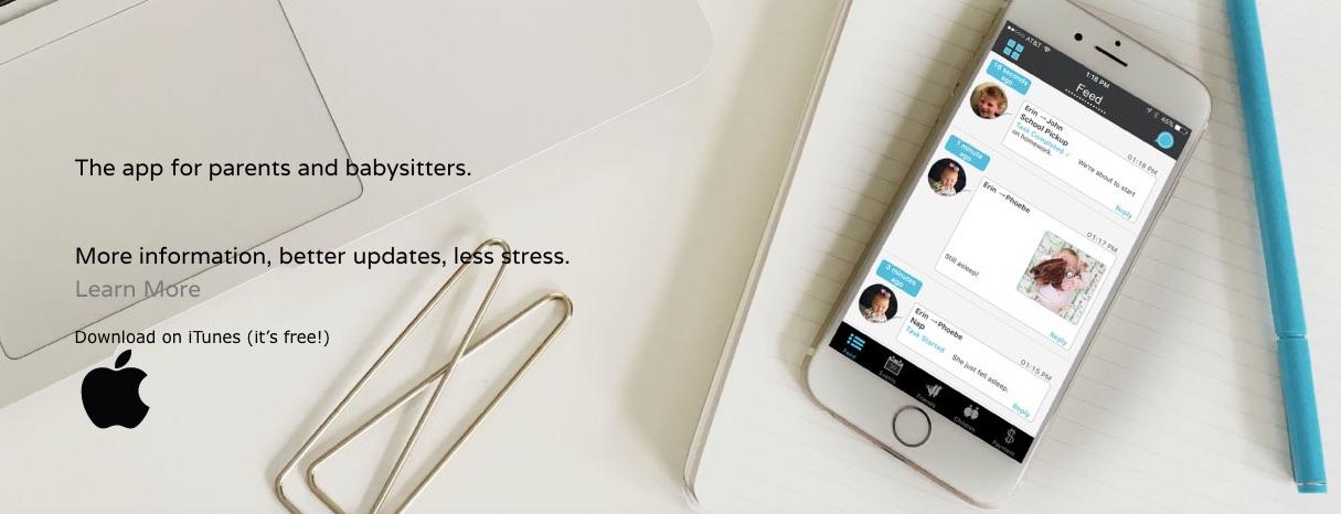 SitterNote, una app que mantiene en contacto a padres y niñeras