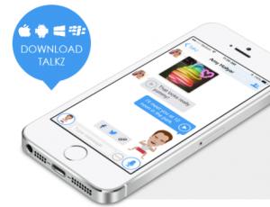 Si vas a crear una app de mensajería, que sea tan original como Talkz