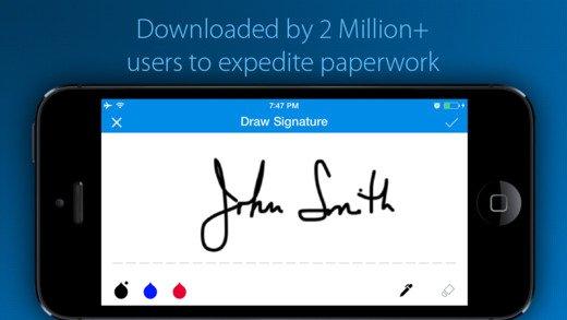 Aplicaciones para firmar documentos con el smartphone
