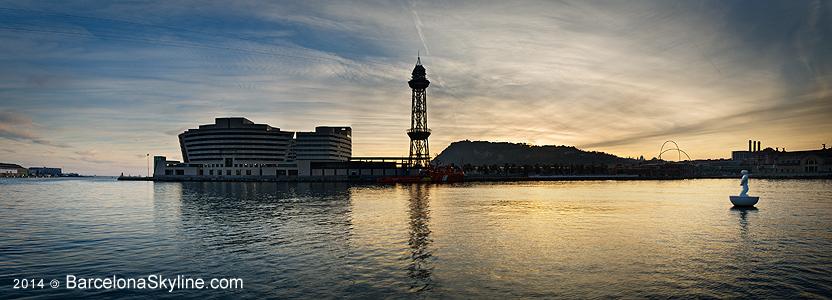 BarcelonaSkyline fotografía Barcelona para ver cómo cambia a lo largo del tiempo