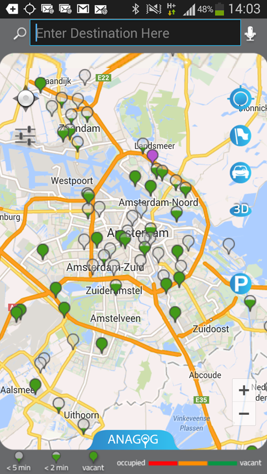 Encontrar parking será muy fácil si lanzas una app como Anagog