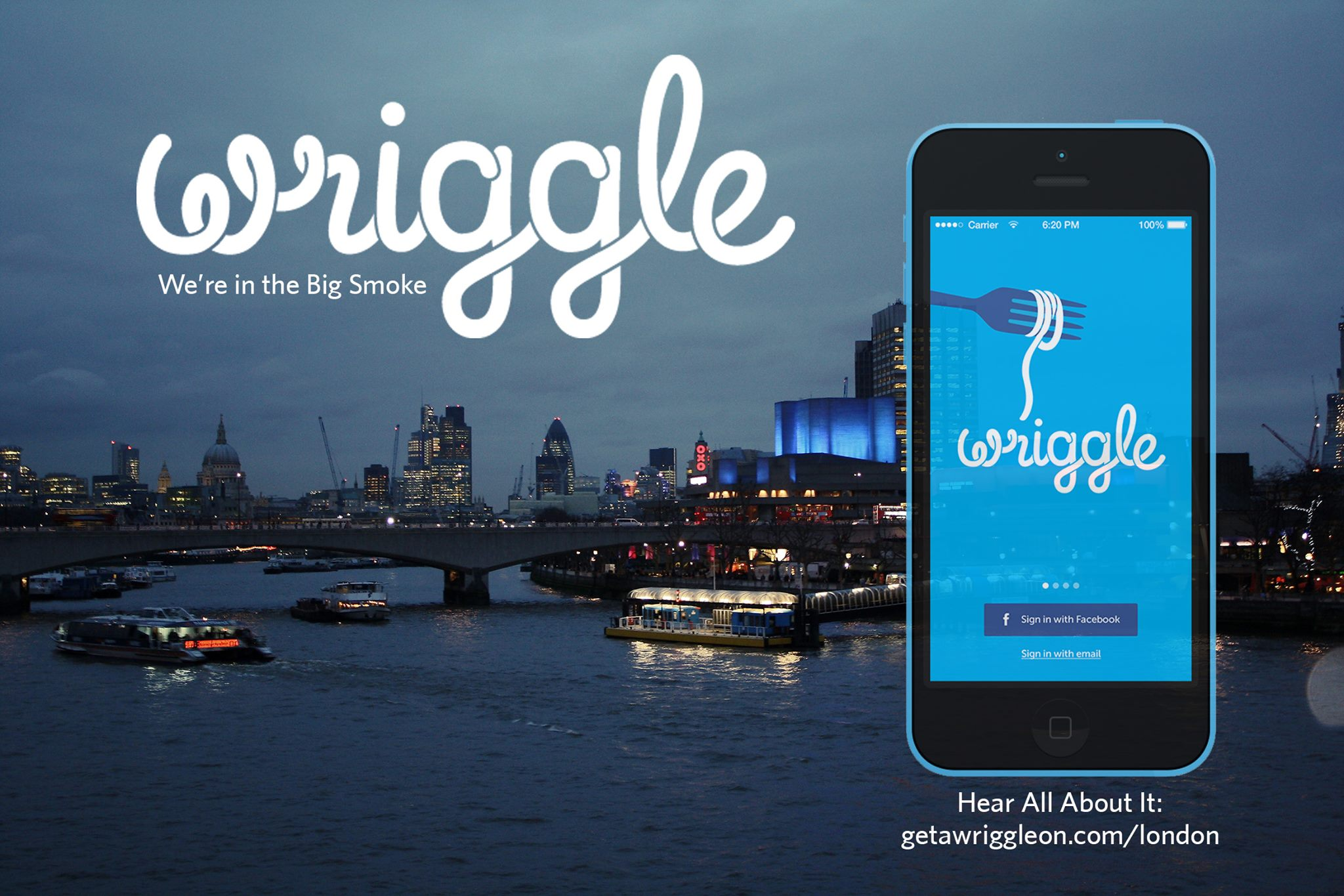 Wriggle permite encontrar ofertas de última hora para comer y beber en Londres. ¡Tráelo a España!
