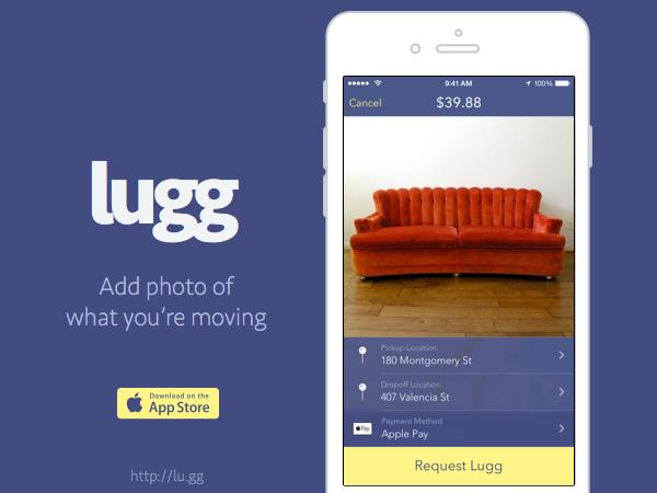 ¿Te gustaría seguir los pasos de Lugg? Es una app que facilita el transporte de muebles