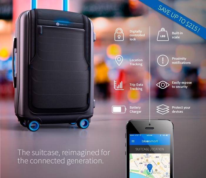 Bluesmart, una maleta inteligente que recauda más de un millón de euros