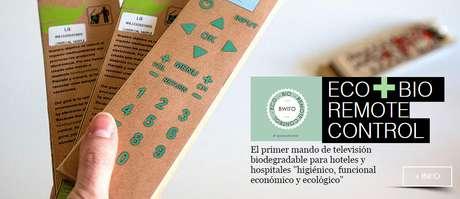 Llega Bwito, el primer mando de televisión biodegradable del mundo