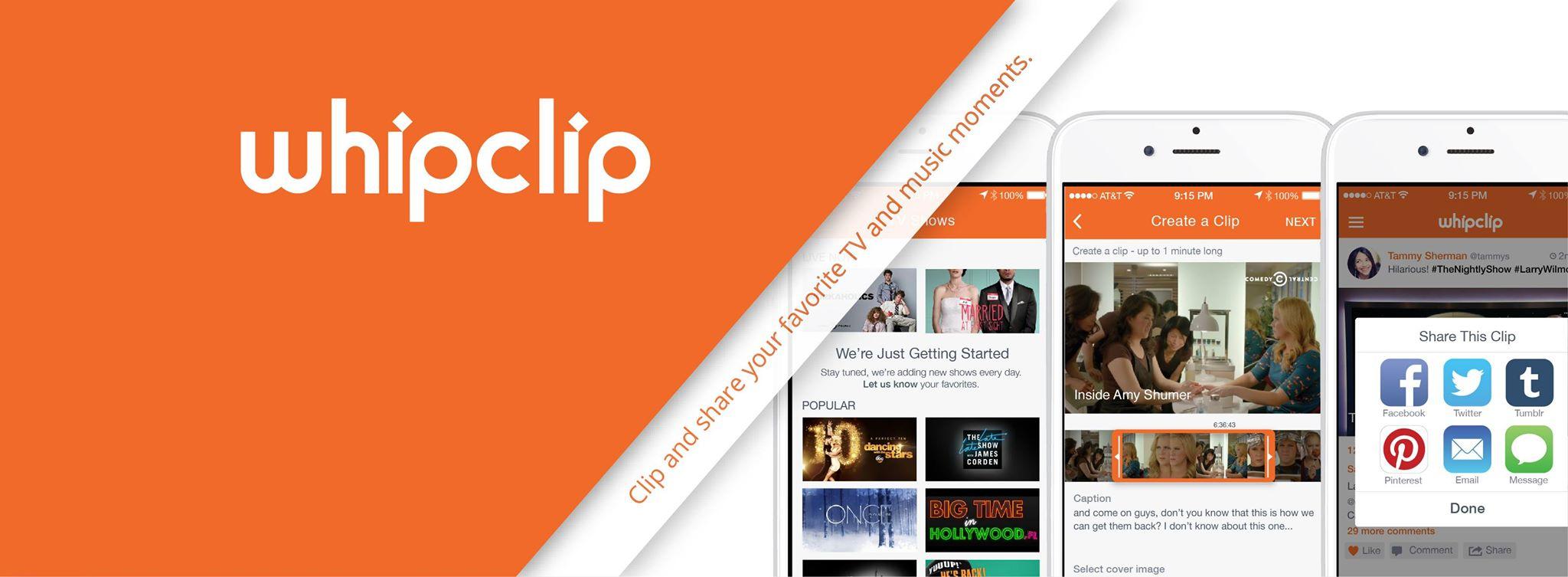 ¿Emprenderías con una idea como Whipclip que permitiera compartir los mejores momentos de la televisión?