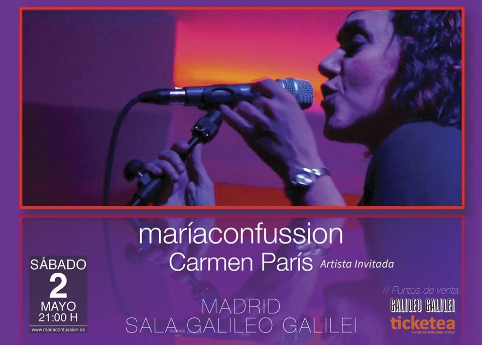 El grupo de música maríaconfussion presenta su nuevo disco con la colaboración de Carmen París