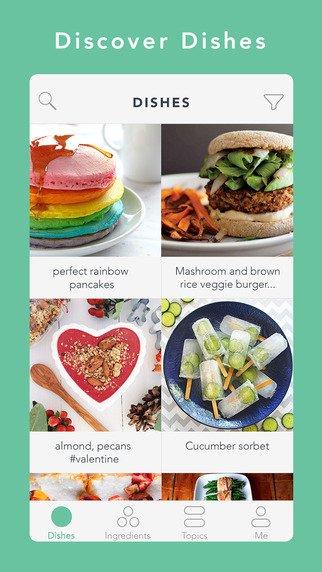 Fíjate en Handpick, una app que nos dice qué platos podemos preparar con los ingredientes que tenemos