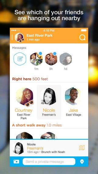 Fomenta las reuniones con amigos creando una app como Swarm