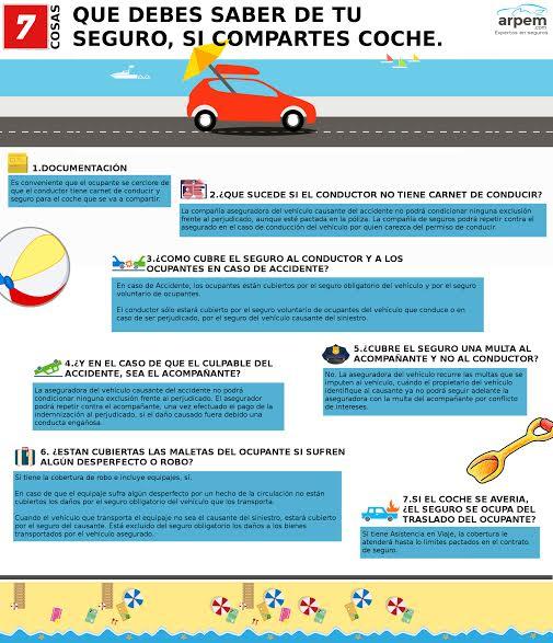 Consejos para compartir coche con total seguridad
