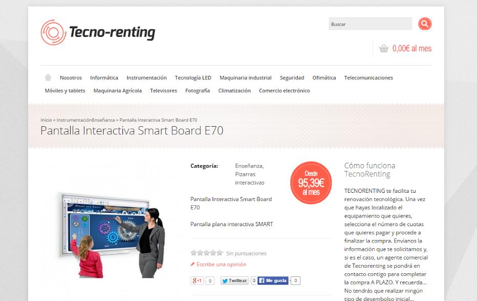 La empresa Tecno-renting ayuda a los centros educativos a crear aulas tecnológicas