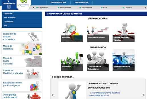 Emprender en Castilla La Mancha, una web para empresarios y emprendedores