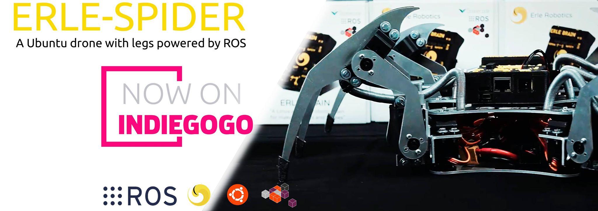 La empresa Erle Robotics crea una araña robótica que accede a espacios reducidos en zonas de desastres