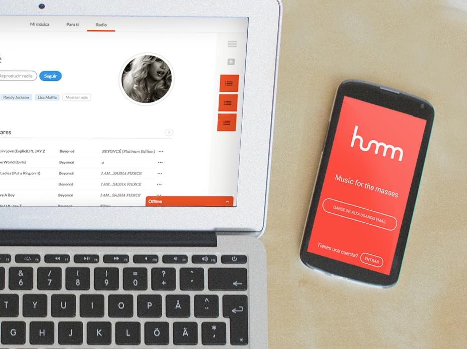 Llega Humm, una aplicación para escuchar música gratis y sin anuncios