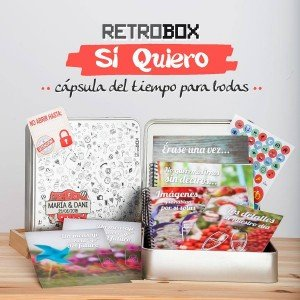 Emprendedores crean Retrobox Sí Quiero, una caja de recuerdos personalizada para los recién casados