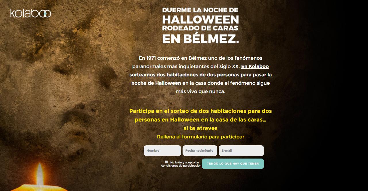 Kolaboo sortea una noche de Halloween en la casa de las caras de Bélmez