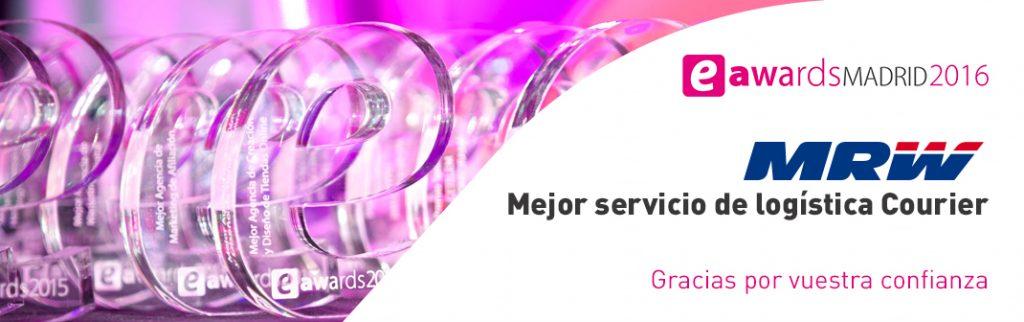 MRW gana el Premio eAward Madrid 2016 como Mejor Servicio de Logística Courier