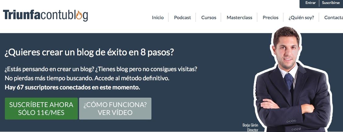 El emprendedor Borja Girón lanza una plataforma web para aprender a crear un blog exitoso