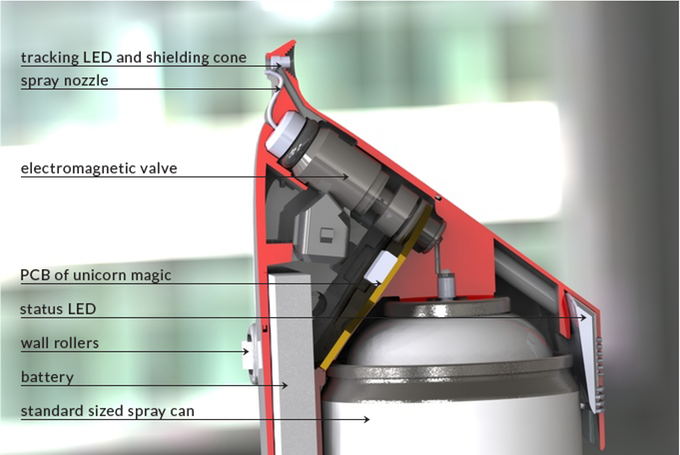 SprayPrinter, un proyecto creado para pintar con spray las imágenes del teléfono móvil