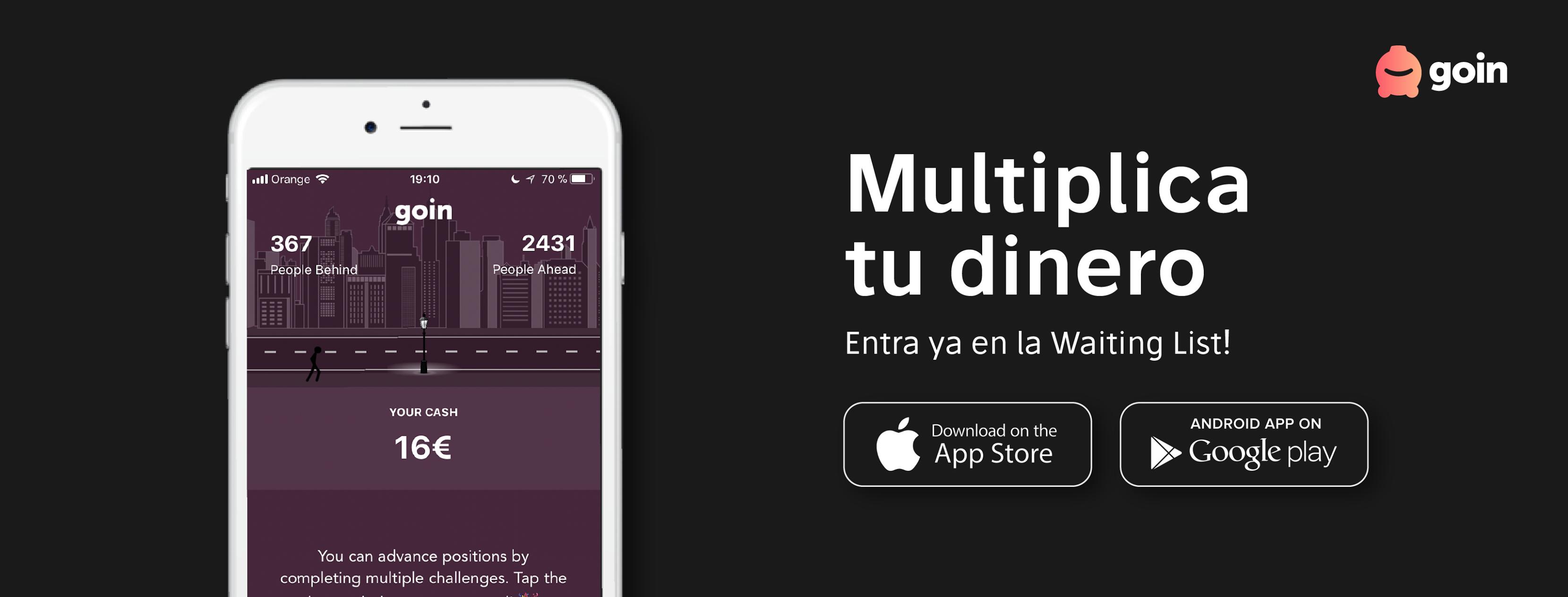 goin, una app para obtener el máximo rendimiento del dinero sin conocimientos de finanzas