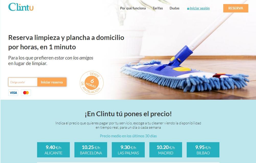 Clintu permite contratar servicios de limpieza a domicilio y cierra una ronda de inversión de 1 millón de €