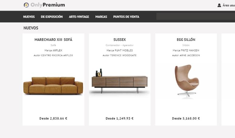Emprendedores crean Only Premium, el primer marketplace de España que agrupa las mejores marcas de decoración