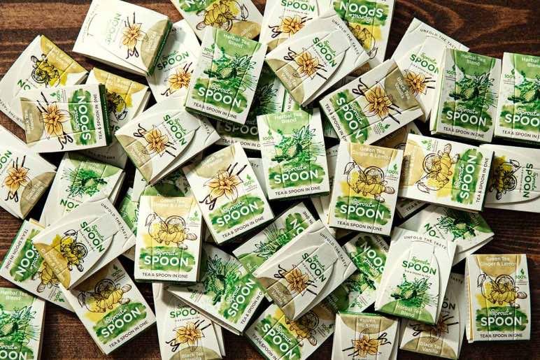 Sprout Spoon, una cuchara biodegradable con bolsa de té integrada - Diario de Emprendedores